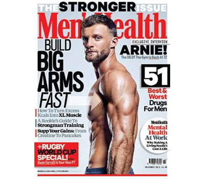 Tom Kemp on the cover of Men's Health